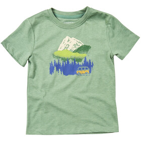 United By Blue Get Away Ride SS Graphic Tee Barn fern green